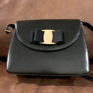 Ferragamo Leather Black Shoulder Bag